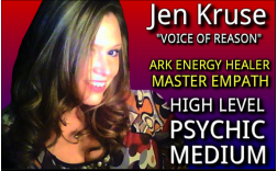 jen Kruse - Voice of Reason - ARK Energy Healer, Master Empath, High Level Psychic Medium - PsychicSisters.net